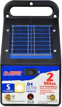 Fi-Shock ESP2M-FS 2-Mile Solar-Powered Electric Fence Charger