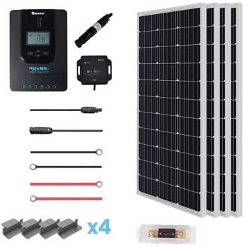 8. Renogy 40A MPPT Rover Controller off-grid Solar Panel Kit