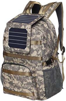 4. XTPower Xplorer Camouflage 38 | Solar Backpack with Removable 5 Watt Solar Panel