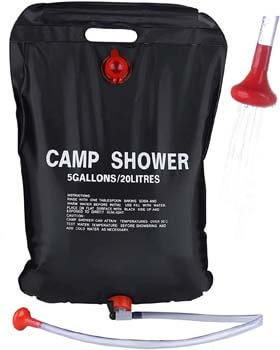 PGYFIS Camping Solar Shower Bag