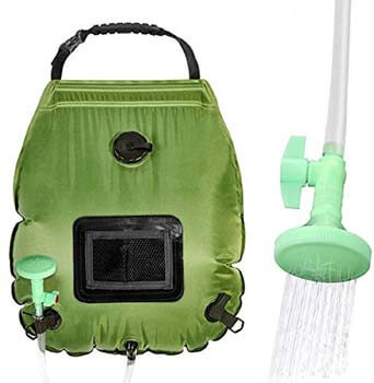 EEEKit Solar Shower Bag for Camping 5 Gallons/20L Camping Shower Bag