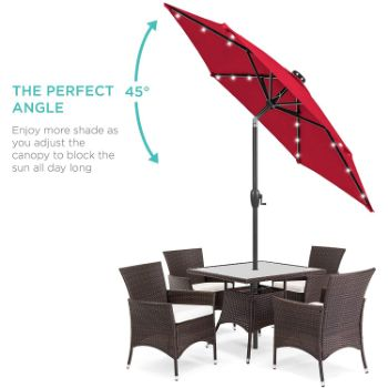 6. Best Choice Products Market Table Patio Umbrella