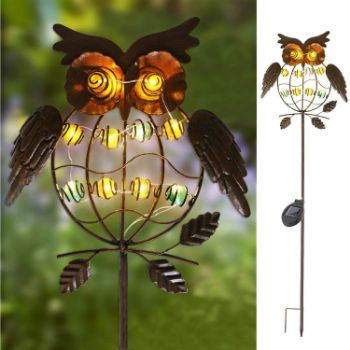 2. TAKE ME Garden Solar Lights Outdoor, Solar Powered Stake Lights