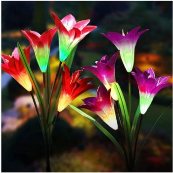 3. Solar Lights Outdoor - New Upgraded Solar Garden Lights